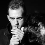 Photo portrait homme, noir et blanc