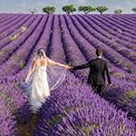 photo de mariage en mouvement